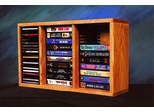 Solid Oak Desktop / Shelf Storage Cabinet For CD's and VHS Tapes - 313-1CD/VHS