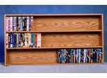 Solid Oak Multifunctional CD/VHS/DVD Storage Cabinet - 308-4W