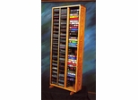 Solid Oak Storage Tower for CD's and VHS Tapes - 312-4CD/VHS