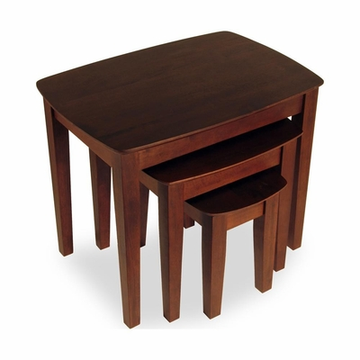 Solid Wood Nesting Tables - 3 Piece Set - Winsome Trading - 94327