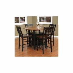 Somerset Dining Table Set with 4 Stools - American Hertiage - AH-713672
