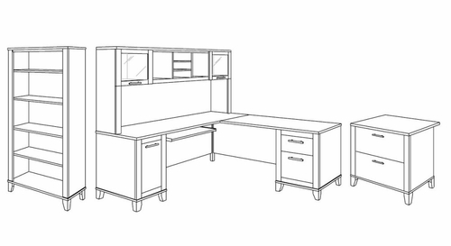 Somerset Home Office Furniture Package 1 - Bush Office Furniture - OFFPKG-38