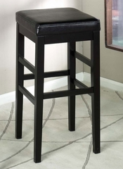 "Sonata 26"" Stationary Barstool in Black Leather - Armen Living - LCSTBABLBL26"