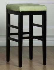 "Sonata 26"" Stationary Barstool in Green Microfiber / Black - Armen Living - LCSTBAMFGR26"