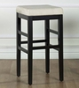 "Sonata 30"" Stationary Barstool in Beige Microfiber / Black - Armen Living - LCSTBAMFBE30"