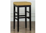 "Sonata 30"" Stationary Barstool in Yellow Microfiber / Black - Armen Living - LCSTBAMFYE30"