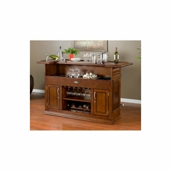 Sonata Home Bar in Suede - American Hertiage - AH-600017SD-S