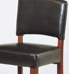 Sonora Stationary Barstool in Brown Leather / Cherry - Armen Living - LCSNBACHBR30