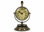 Soren Brass Table Clock - IMAX - 60082