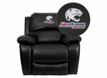 South Alabama Jaguars Embroidered Black Leather Rocker Recliner  - MEN-DA3439-91-BK-41091-EMB-GG