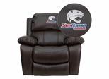 South Alabama Jaguars Embroidered Brown Leather Rocker Recliner  - MEN-DA3439-91-BRN-41091-EMB-GG