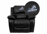 South Carolina Aiken Pacers Embroidered Black Leather Rocker Recliner  - MEN-DA3439-91-BK-41092-EMB-GG