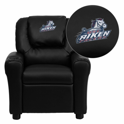 South Carolina Aiken Pacers Embroidered Black Vinyl Kids Recliner - DG-ULT-KID-BK-41092-EMB-GG