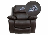 South Carolina Aiken Pacers Embroidered Brown Leather Rocker Recliner  - MEN-DA3439-91-BRN-41092-EMB-GG