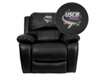 South Carolina Beaufort S& Sharks Embroidered Black Leather Rocker Recliner - MEN-DA3439-91-BK-41093-EMB-GG