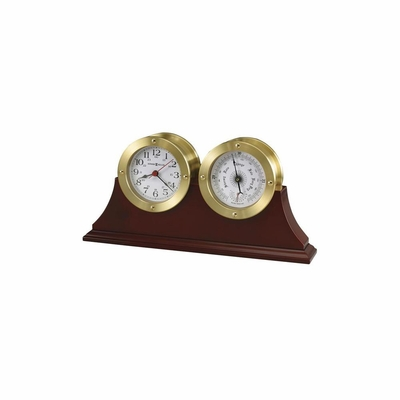 South Harbor Cherry Weather Maritime Table Clock - Howard Miller