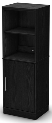 South Shore Academic Black Oak Shelf Bookcase - 7247651