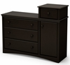 South Shore Angel Combo Storage Unit in Chocolate  - 3559357