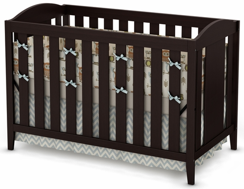 South Shore Angel Crib and Toddler Bed in Chocolate  - 3559350