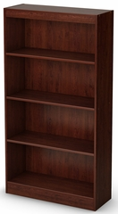 South Shore Axess Bookcase with 4 Shelves in Royal Cherry - 7246767C