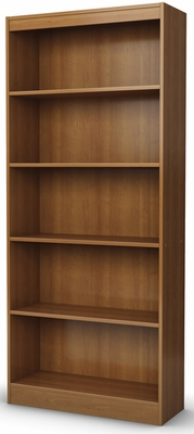 South Shore Axess Morgan Cherry Bookcase with Five Shelves - 7276768C