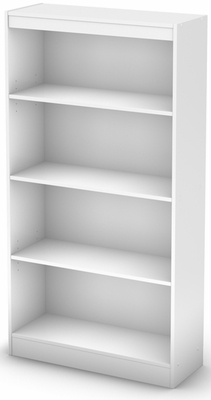 South Shore Axess Pure White Bookcase with Four Shelves - 7250767C