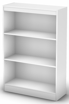 South Shore Axess Pure White Bookcase with Three Shelves - 7250766C