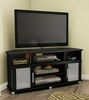 South Shore City Life Corner TV Stand - Pure Black - 4270690