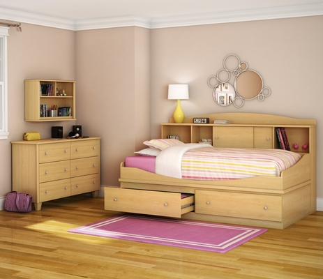 South Shore Clever Room 4 Piece Twin Mates Bedroom Set - 3613099