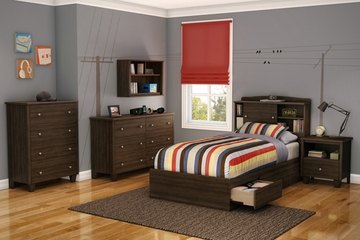 South Shore Clever Room 6PC Twin Mates Bedroom Set - 3579098
