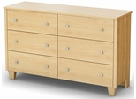 South Shore Clever Room Dresser in Natural Maple - 3613027