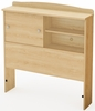 South Shore Clever Room Natural Maple Twin Bookcase Headboard - 3613098