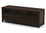 "South Shore Exhibit 60"" Transitional TV Stand in Mocha - 4479677"