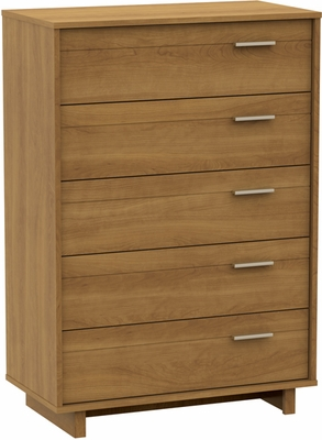 South Shore Flynn 5 Drawer Chest in Harvest Maple - 3226035