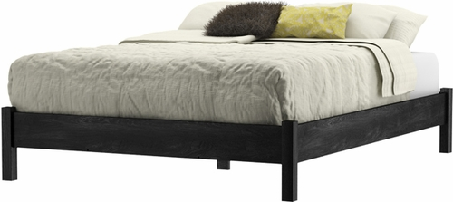 South Shore Flynn Full Platform Bed in Gray Oak - 3237204