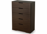 South Shore Holland Contemporary Drawer Chest in Mocha - 3379035