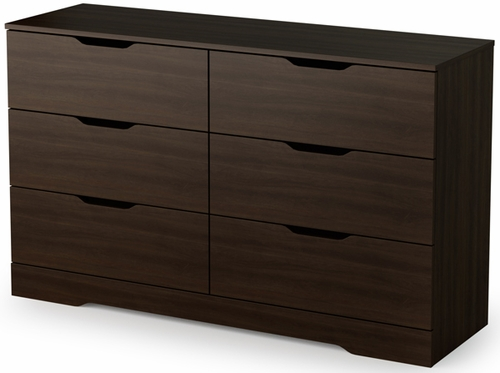 South Shore Holland Contemporary Dresser in Mocha - 3379010