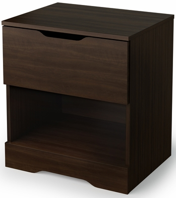 South Shore Holland Contemporary Nightstand in Mocha - 3379062