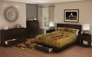 South Shore Holland Full/Queen Platform Bedroom Set with 2 Nightstands - 3379010