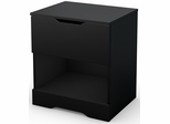 South Shore Holland One Drawer Nightstand - Pure Black - 3370062