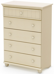 South Shore Hopedale 5 Drawer Chest in Ivory - 3711035
