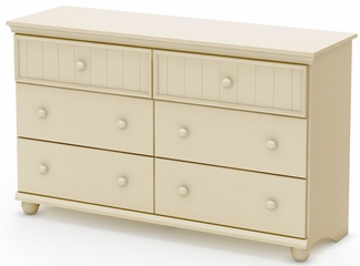 South Shore Hopedale 6 Drawer Dresser in Ivory - 3711027