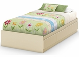 South Shore Hopedale Twin Mates Bed in Ivory - 3711212