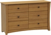 South Shore Jumper Transitional Dresser in Harvest Maple - 3326027