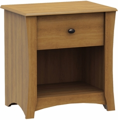 South Shore Jumper Transitional Nightstand in Harvest Maple - 3326062