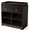 South Shore Little Teddy Changing Table in Chocolate - 3169337