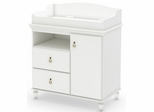 South Shore Moonlight Changing Table in Pure White - 3760332