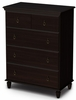 South Shore Moonlight Chest in Dark Mahogany - 3716034