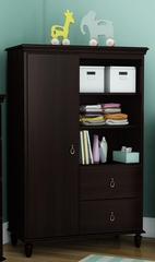 South Shore Moonlight Dark Mahogany Armoire - 3716038