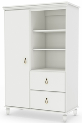 South Shore Moonlight Pure White Armoire - 3760038